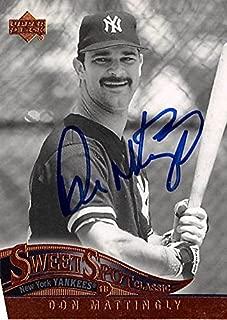 don mattingly autographed baseball card