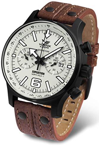 Vostok Europe 6S21-5954200 Armbanduhr mit Lederband