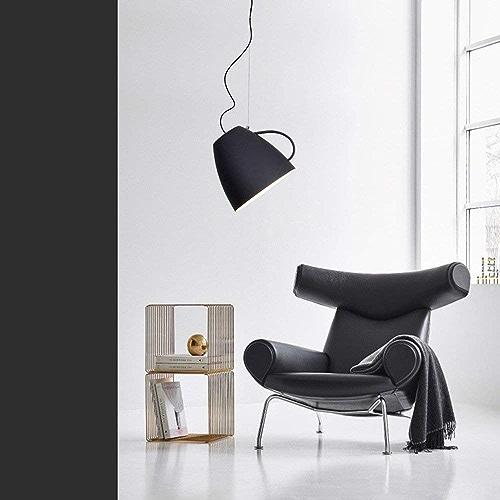 Postmodern Creative Cup Iron Art pendentif Luminaire suspendu Lampe de plafond intérieur Décoration Luminaire pour salle à hommeger Restaurant Tavern (Couleur  Blanc)