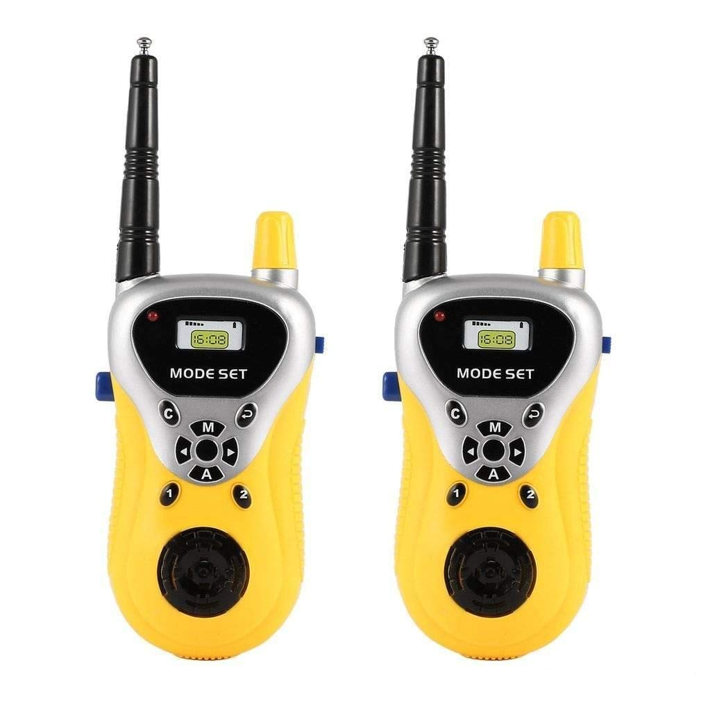 CEEJAY Plastic Portable 2 Player Walkie Talkie Set for Kids with Extendable Antenna for Extra Large Range 100Ft (Multi Color...