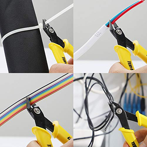 DOWELL Micro Cutter Flush Cutter Electronics Soft Wire Cutter Professional Cutting Copper And Aluminum Wire Cables