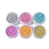Jie Du 1 Set de purpurina de uñas en polvo brillante colorido cromo pigmento de polvo manicura maquillaje decoración