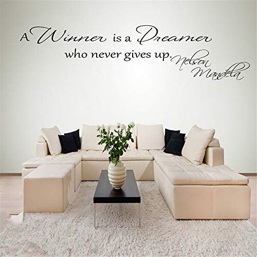 Adesivo Murale Albero D 'Estate Nelson Mandela Quote A Winner Is A Dreamer Who Never Gives Up