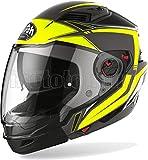 Airoh EXLI31 - Casco de moto modular amarillo mate Executive Line, talla XS