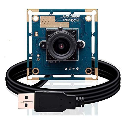 Svpro 2-Megapixel-HD-Freier Treiber für USB-Kameras 1/2,7 '' CMOS OV2710 Maximale Auflösung 1920X1080 USB-Webkameramodul Unterstützung für MJPEG Android Linux Windows (SV-USBFHD01M-L36)