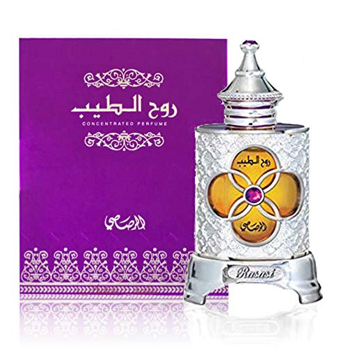 Ruh AlTeeb - Alcohol Free Arabic Perfume Oil Fragrance for Men and Women (Unisex) - Unique Christmas Gift by Rasasi