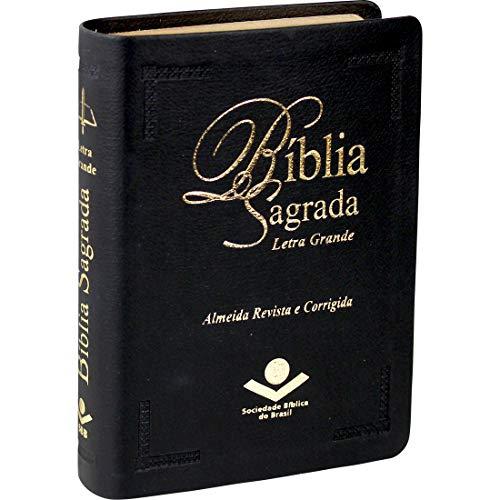 Bíblia Sagrada Letra Grande: Almeida Revista e Corrigida (ARC) - Couro sintético Preta