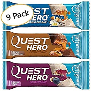 Quest Hero Protein Bar Variety Pack Adventure Box (9 Count)