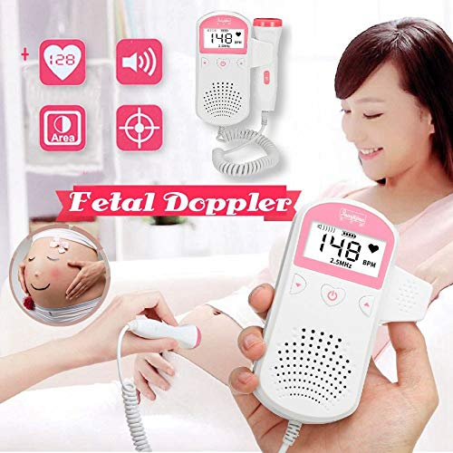 We1lessz Fetal Doppler Ultrasound Baby Heartbeat Monitor + Infrared Baby Forehead Thermometer Temperature Measurement for Pregnant,FetalDoppler