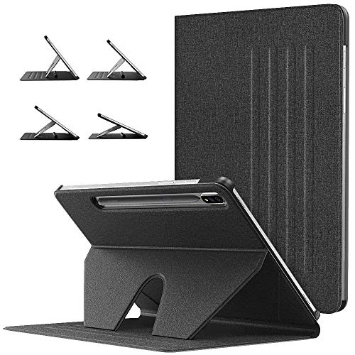 TiMOVO Case for All-New Samsung Galaxy Tab S7 Plus 12.4 Inch Tablet (SM-T970/T975/T976), Multiple Angles Magnetic Stand Case with Auto Wake/Sleep Fit Galaxy Tab S7 Plus 2020 Tablet, Black