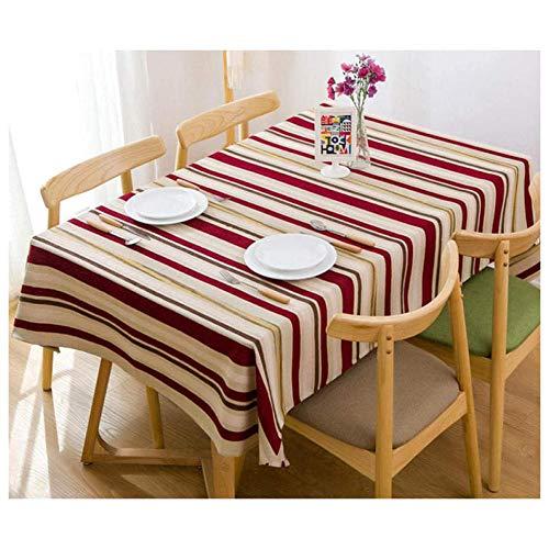 YSJYYHP Manteles Rectangular Antimanchas,110x155cm Mantel de Algodón y Lino, Lavable Manteles para Bodas Fiesta Buffet Navidad Cumpleaños Restaurante