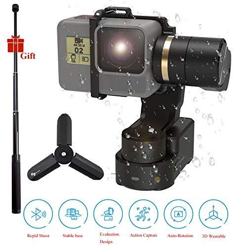 FeiyuTech Feiyu WG2X Wearable Gimbal Stabilizzatore con asta di prolunga e mini treppiede, Action Camera Gimbal, compatibile con GoPro Hero 7/6/5/4/Session qualsiasi fotocamera di dimensioni simili
