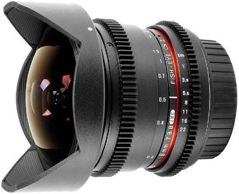Samyang 8 mm T3.8 - Objetivo ojo de pez para Canon EOS V-DSLR negro
