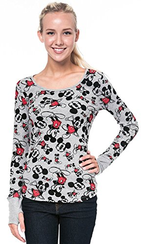 Disney Junior Thermal Top Mickey Mouse Print Long Sleeve w/ Thumbhole (Small)