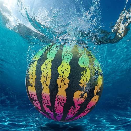 Wassermelonenkugel-Kombipack | Das ultimative Schwimmbadespiel | Poolball Geeignet für Junge Erwachsene Unterwasser Passing Ball Tauchen Schwimmbad Spiel füllt Sich mit Wasser (2 * Farbe)
