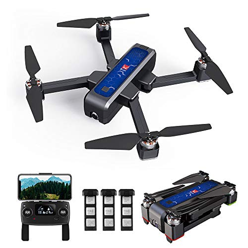 Goolsky MJX Bugs 4W Brushless GPS RC Drohne mit Kamera 2K 5G WiFi FPV Optische Flusspositionierung B4W Faltbarer Quadrocopter Follow Me Altitude Hold Drohne mit 3 Batterie Handtasche
