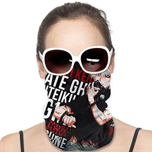 Tokyo Ghoul Bandana unisex reutilizable calentador de cuello, bufanda, pasamontañas, máscara facial