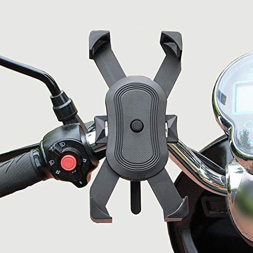 Soporte para Teléfono Soporte Universal para Teléfono Bicicleta Soporte para Motocicleta Soporte GPS Móvil Anticaída para iPhone 12 11Pro MAX Huawei Xiaomi Negro