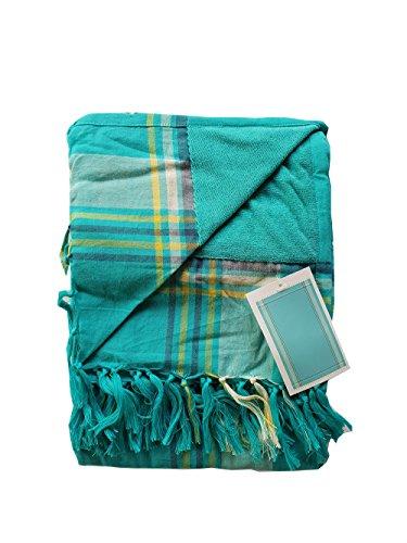 Asciugamano Pareo da Spiaggia con Frange in 100% Cotone Spugna di 90 x 180 cm Telo Mare...