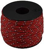 Corderie Italiane 006038429 Cordino Colorato Hobby Fantasy, Rosso, 2 mm, 50 m