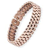 Magnetic Bracelets for Women,Titanium Magnetic Therapy Bracelets for Pain Relief Arthritis Bracelet for Women with Hematite Element(Rose Gold)