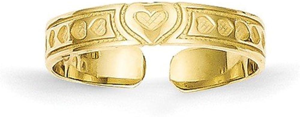 10k Heart Toe Ring