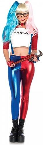 shoperama Misfit Hipster Damen-Kostüm von Leg Avenue Harlekin, Größe XS
