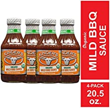 Kinder's Organic Mild BBQ Sauce, 4-Pack; 20.5 oz Each; Smoky-Sweet Twist on Classic Barbeque Sauce; Certified Organic, Gluten-Free, No MSG or High Fructose Corn Syrup for Seasoning or Dipping Any Meat