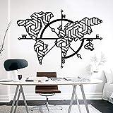 Adhesivo decorativo para pared con diseño de mapa del mundo para oficina, aula, mapamundi de tierra, gobal de la tierra, decoración de vinilo para dormitorio