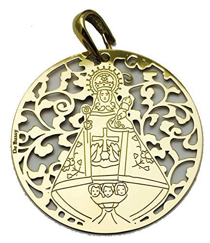 Medalla Virgen de Covadonga en Plata de Ley