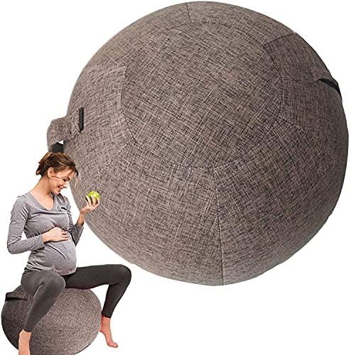 WYNDCM Cubierta de Bola de Yoga de 55 cm / 22 Pulgadas, Tapa de Bola de Gimnasio para Bola de Gimnasia Bola de Gimnasia con Cartuchos sentados Silla de Bola Proteger Cubiertas Fundaver,75cm