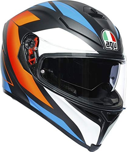 AGV CASCO K5 S MULTI MPLK CORE MATT BLACK/BLUE/ORANGE L