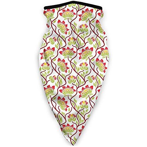 MLNHY Cómoda cubierta de cara a prueba de viento, patrón abstracto con plantas de jardinería florecientes belleza de la naturaleza verano campo Theme.jpg,Decoraciones faciales impresas para todos