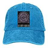 were Men Vintage Adjustable Dad-Hat Personalized Cath¨¦drale Notre-Dame De Paris Cool Baseball Hat, Blue Sombreros y Gorras