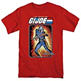 G.I. Joe Cobra Commander Card Unisex Adult T Shirt, Red, X-Large