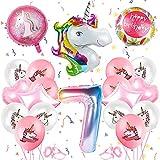 Unicornio decoración de cumpleaños, fiesta de unicornio para niñas, globos de unicornio, globos de papel, globos para fiestas de cumpleaños infantiles, globos para decoración de cumpleaños (7)