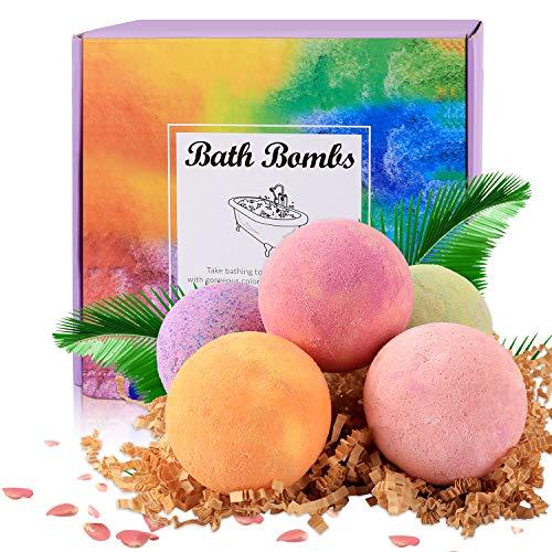 Badebomben BESTOPE Badekugeln aus natürliche ätherische Öle Geschenkset Badezusatz Bath bomb für trockener Haut & Entspannen, Feuchtigkeitsspendende Hautpflege Spa Schaumbad