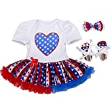 ZOYLINK Baby Romper Set Mameluco Infantil Encantador Zapatos De Diadema Para El Día De La Independencia