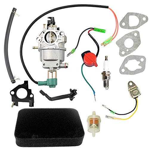 Mejor HURI Carburetor + Intake Manifold + Gaskets for Champion Power Equipment 3500 4000 Watts Gas Generator crítica 2020