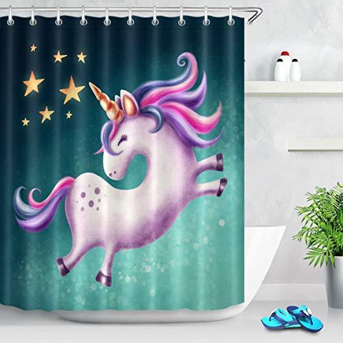 cortinas baño estrellas