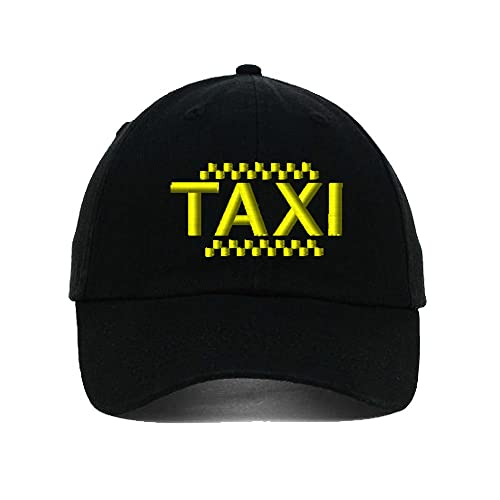 Speedy Pros Taxi Driver Cab Embroidery Twill Cotton 6 Panel Low Profile Hat  Black 34b3eb629df