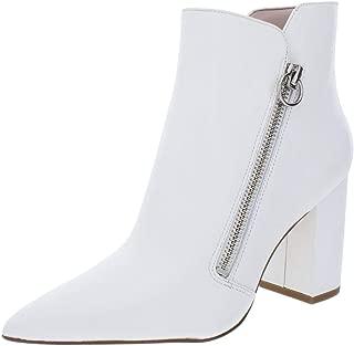Nine West Womens Russity Solid Block Heel Booties