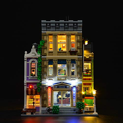 YYDIY Luci LED Kit per Lego Stazione Polizia 10278 - Illuminazione Luce LED Light Kit Compatibile con Lego 10278 (Solo Luci, Non Incluso Lego Modello)