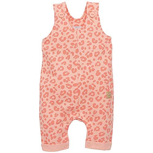 Pinokio - Sweet Panther- Overall - Baby, Mädchen - 100% Baumwolle - Lachs Rosa Leo-Muster Leopard, Latzhose mit Knöpfen (56)