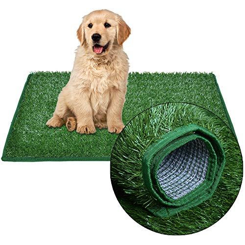 Prato sintetico per cani, lettiera per cani, con erba orlata, per allenare il balcone, la casa, il prato, riutilizzabile, per interni ed esterni