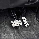 2Pcs / Set AT Car Pedal Cover Auto Pedals Fit, para Honda Vezel HRV HR-V 2016-2019 Fit Jazz 2011-2019 City 2015-2019 Partes -Silver