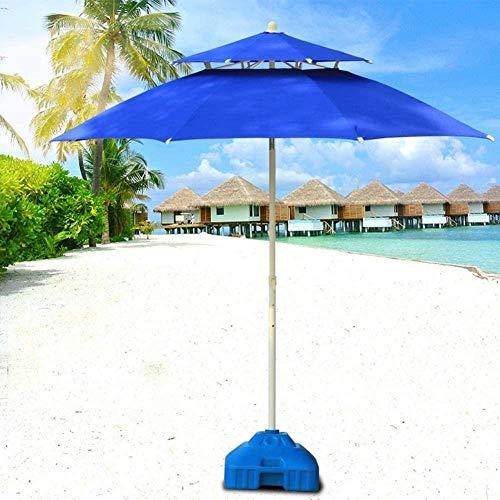 Ombrellone da Giardino con Cassetta Postale Durevole, ombrellone da terrazza a Doppia Altezza in Tinta Unita, Adatto per Cortile/Spiaggia/Commerciale/attività/Campeggio, Crema Solare/imperme