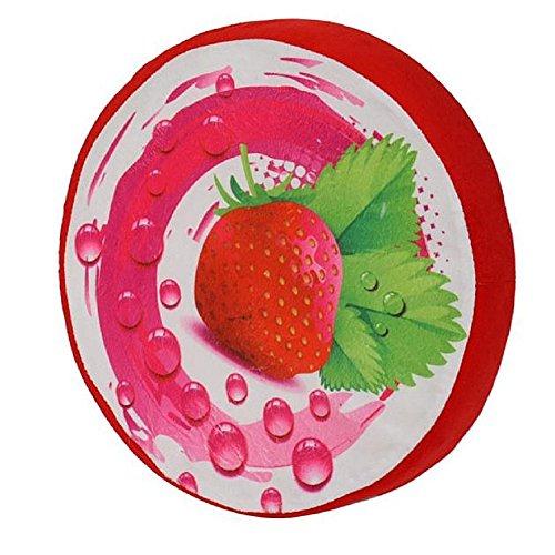 3d Fruits Coussin Oreiller Assise de chaise Canapé pour décor Home Office de siège de voiture en peluche jouet Cadeau d'anniversaire, fraise, Taille unique