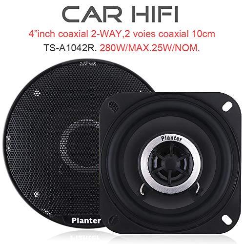 TJCB Car-HiFi-Koaxial Lautsprecher-Auto-Tür-Auto-Audiomusik Stereo Tweeter Voll Frequenz Auto Horn Crossover-Lautsprecher 280W 4-Zoll-2Pcs