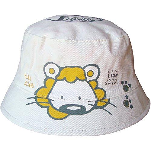 Cappello da spiaggia per bambini, ragazzi e ragazze unisex di Lion Safari White S